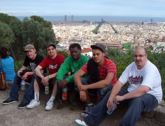 MP, KNO, Swedish Jason and Ryan in Barcelona, Spain