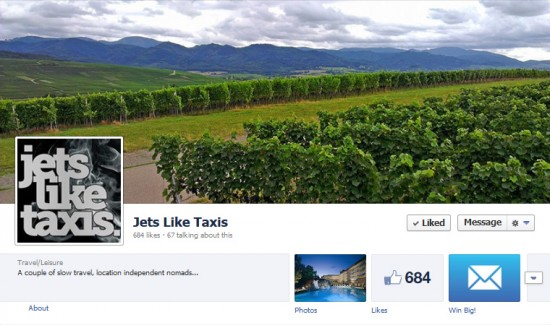 Jets Like Taxis on Facebook