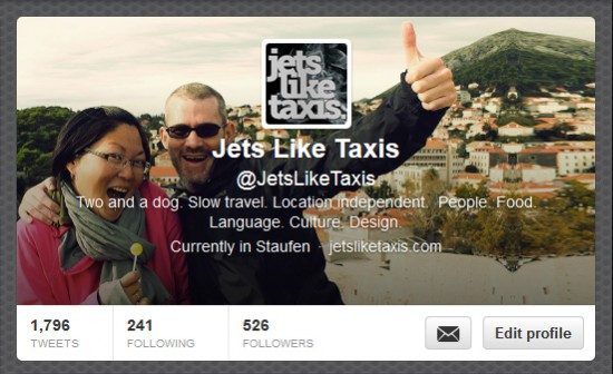 Jets Like Taxis on Twitter