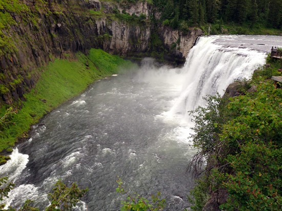 Upper Mesa Falls, Idaho by Jets Like Taxis