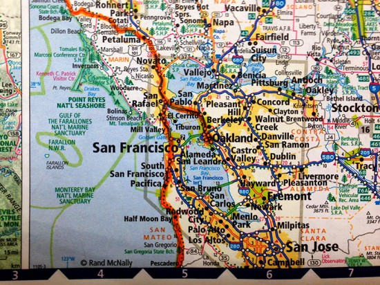 Bay Area, CA, Map by Jets Like Taxis