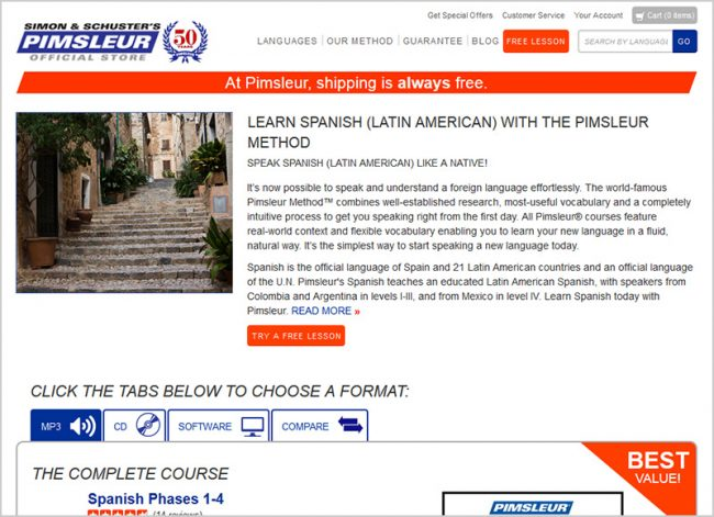 Pimsleur Method Spanish