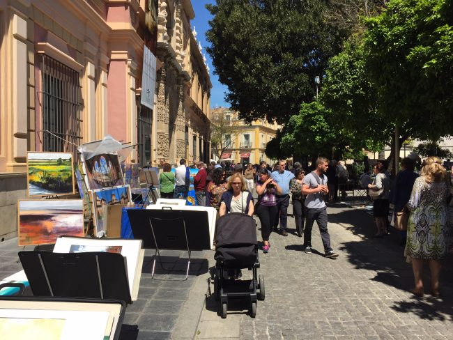 Sunday Art Market in Seville, Spain by Jets Like Taxis